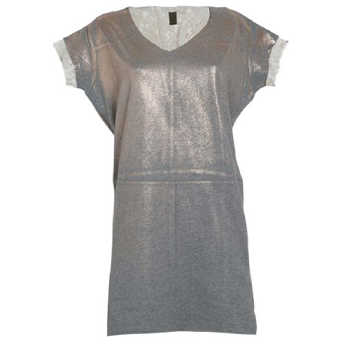 Jijil Women's Bronze Grey Dress With Lace In Size S Grey