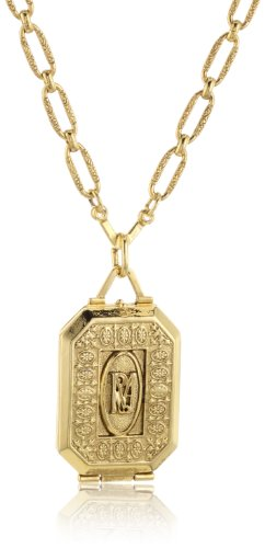 Antiquities Couture Maria Gold-Tone Locket Necklace