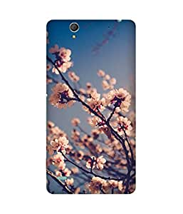 White Flowers Sony Xperia C4 Case