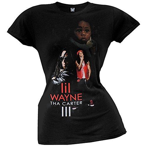 Lil Wayne - Womens Big Iii Juniors T-shirt Large Black (Lil Wayne T Shirt Womens compare prices)