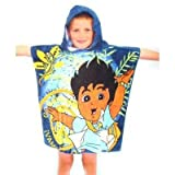 Kids Go Diego Go! Hooded Poncho beach towel (60 x 120cm)