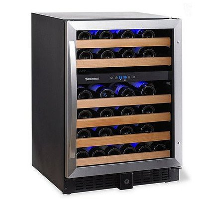 Wine Enthusiast Classic 46 Dual Zone Wine Cellar -Stainless Steel Trim (Wine Cellar Door compare prices)