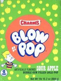 Charms Blow Pops Sour Apple (48 count)