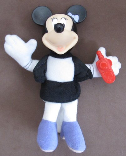 "Disney MICKEY House of Mouse MINNIE MOUSE FIGURE #5 w CELL PHONE 5"" Tall (2001 McDonald's) - 1"
