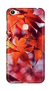 Amez designer printed 3d premium high quality back case cover for Vivo X6 (Fall leaf red mountain bokeh)