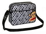 Paul Frank Monkey Face Holdall Messenger Shoulder Vintage Despatch Bag Back To School College Polka Dot Spot Lilac & Black