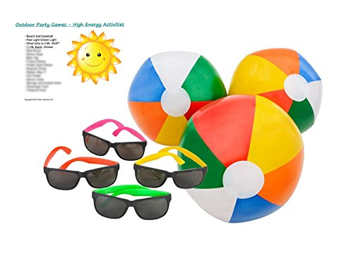 Learn More About Pool Party Favors/Supplies for 12 - 12 Multi-Colored Inflatable Beach Balls (10 inc...