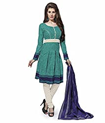 Mayur Women's Cotton Unstitched Dress Material (162034222255_Green_Medium)