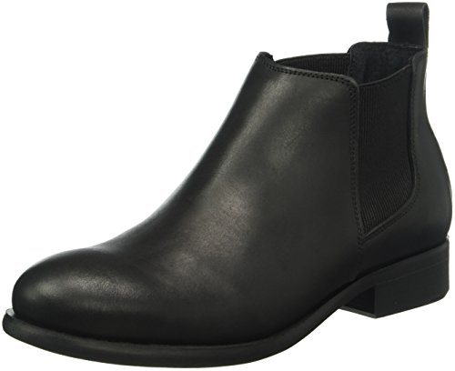 PIECES Psizi Leather Short New, Stivali Chelsea Donna, Nero (Black), 40 EU