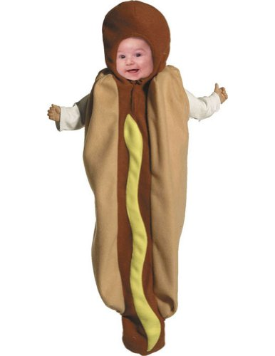 Halloween Costumes Item - Hot Dog Baby Bunting Costume