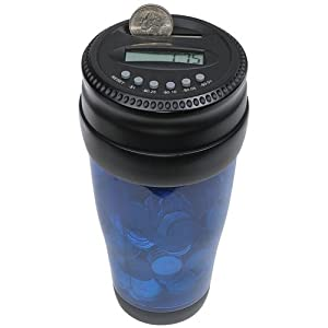 Totes Mens Auto Coin Jar, Blue, One Size