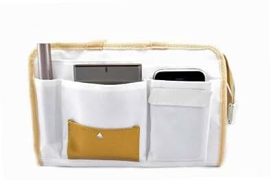 Periea Organizzatore da borsetta Liner, Insert 9 tasche25x17x10cm - Layla Bianco