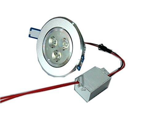 Glw 12V Led Recessed Light Cool White 3X2W 500Lm Ceiling Lights High Power 6000K 12V Dc Or 12V Ac 45 View Angle Degree