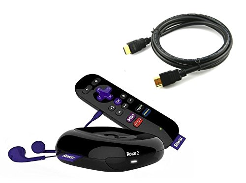 Roku 2 Streaming Media Player with 6 foot HDMI Cable (Certified Refurbished)