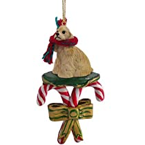 Cocker Spaniel Buff Dog CANDY CANE Christmas Ornament DCC15C