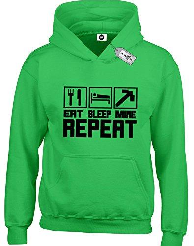 Eat Sleep Shop Repeat -  Felpa con cappuccio  Verde verde