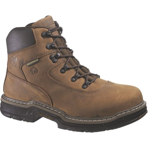 "Men's Wolverine 6"" 400 grams of Thinsulate Ultra Insulation Marauder MultiShox Waterproof Boots Brown"