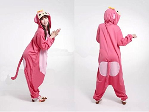 Pink Adults Costume Ladies Macaque Ladies Mens Cute