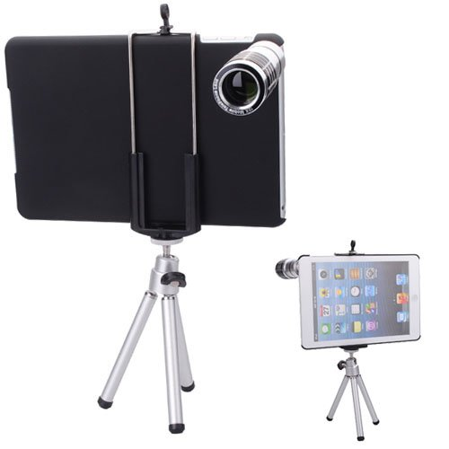 12X Zoom Mobile Camera Lens Telephoto Telescope With Back Case For Ipad Mini