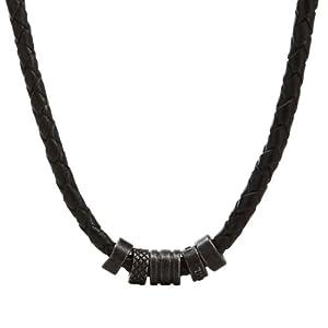 Fossil Jewelry Herren-Kette Leder schwarz IP schwarz JF00060001