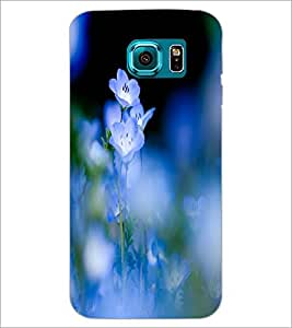 PrintDhaba Beautiful Flowers D-1206 Back Case Cover for SAMSUNG GALAXY S6 EDGE (Multi-Coloured)