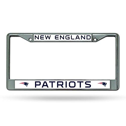 NFL New England Patriots Chrome License Plate Frame (Sports Team License Plate Frames compare prices)