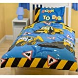 Amazoncouk Matching Bedrooms JCB Digger Cot Bed Duvet