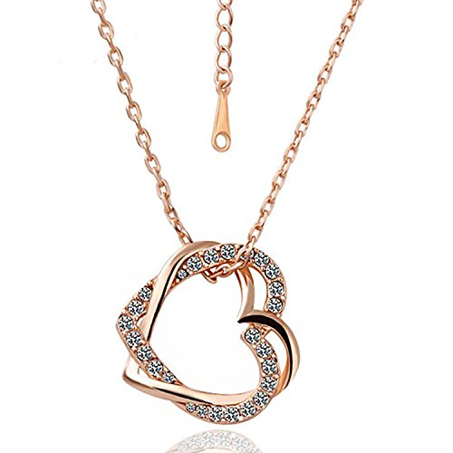 PROMOTIONS Heart Gold Pendant Necklaces For Women