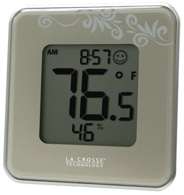 La Crosse Technology 302-604S-TBP Digital Table Top Thermometer, Silver from La Crosse Technology