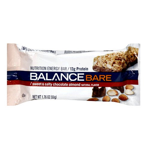 Balance Bare Nutrition Energy Bar Sweet & Salty Chocolate Almond, 1.76 Ounces (Pack of 15)