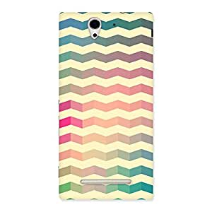 Special Seamless ZigZag Multicolor Back Case Cover for Sony Xperia C3