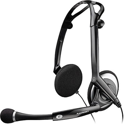 Plantronics Lightweight Stereo Pc Noise-Cancelling Headset With Boom Microphone & In-Line Volume & Mic Controls