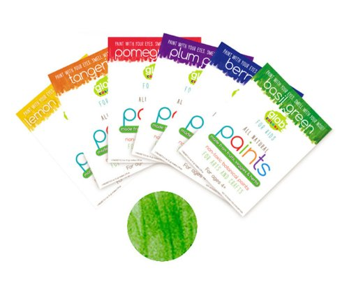 Glob natural peinture paint-agent pour enfant - 56 g-vert basilic