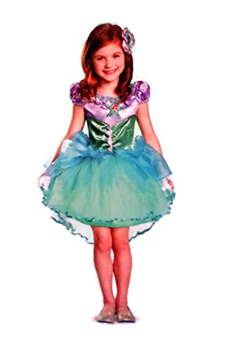 Disguise Disney Little Mermaid Ariel Deluxe Child Costume, Small/4-6x