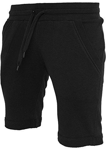 Urban Classics Turnup pantaloncini pile grigio sweatshorts - 60% cotone, 40% Poliestere, Black, M
