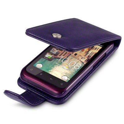 PURPLE HTC RHYME PU LEATHER FLIP CASE / COVER / POCKET / POUCH Black Friday & Cyber Monday 2014