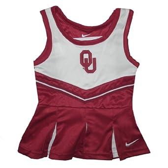 NCAA Oklahoma Sooners Girls Sleeveless Dress / Tank Dress with Logo 12M Red & White