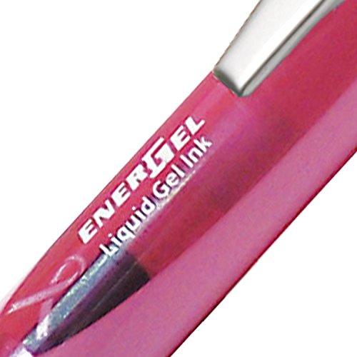 Pentel Energel XM - Bolígrafo retráctil (tinta negra), diseño de la campaña contra el cáncer de mama, color rosa