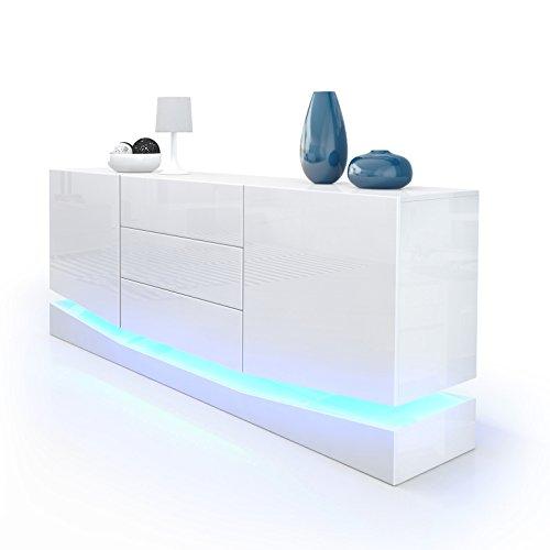 Sideboard-Kommode-City-Korpus-in-Wei-Hochglanz-Fronten-in-Wei-Hochglanz-inkl-LED-Beleuchtung