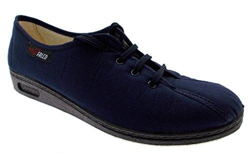 pantofola lacci cotone blu fisioterapia extra large 35 blu