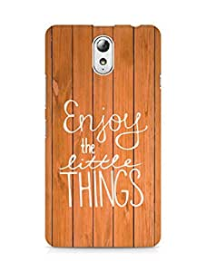 AMEZ enjoy the little things Back Cover For Lenovo Vibe P1M