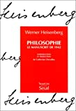 Philosophie (French Edition) (2020206463) by Heisenberg, Werner