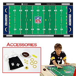 NFLR Licensed Finger FootballT Game Mat - Chargers. Product Category: Toys & Games > Finger FootballT > NFL AFC