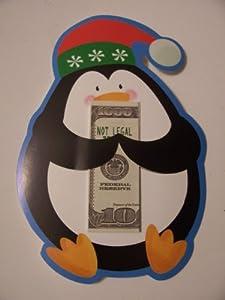 Christmas Money Holders with Envelopes ~ Set of 8 (Penguin)