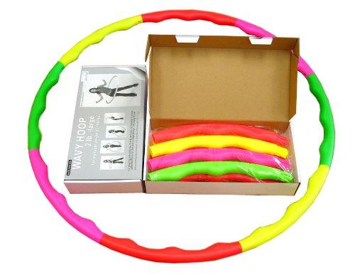 """Sports Hoop® For Excercise: Wavy Hoop® 2B - 1.8Lb (Dia.40.5"""") Large, Exercise Hula Hoop"""