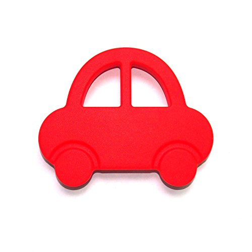 """The Art of CureTM Organic Teething Silicone Red CAR Baby BPA Free, All Natural"