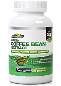 Green Coffee Bean Extract - Platinum Fat Burner and Weight Loss Supplement With Zero Side Effects - Ultra Max Strength GCA (50% Chlorogenic Acids) - Contains 60 Capsules of Pure 800mg Dr. Oz Recommended Strength - One Month Supply - The Best Natural Weight Loss and Slimming Aid Backed By Lifetime Money-Back Guarantee