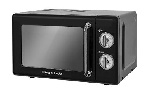 Russell Hobbs RHRETMM705B 17L Retro Manual 700w Solo Microwave Black