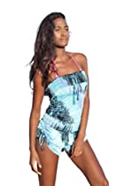 Ingear Tie Dye Smocked Romper Cover Up Tie Dye Medium