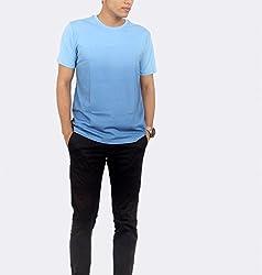 Younsters Choice Men's Cotton T-Shirt (YC-5840_Sky Blue_X-Large)